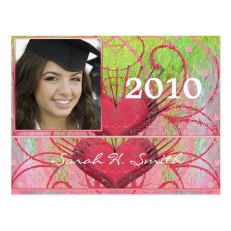 Clase de las invitaciones 2010 de la graduación tarjetas postales