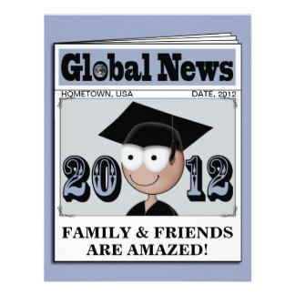 Clase de las invitaciones 2012 de la graduación (1 comunicados personalizados