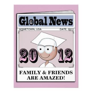 Clase de las invitaciones 2012 de la graduación (1 comunicado personalizado