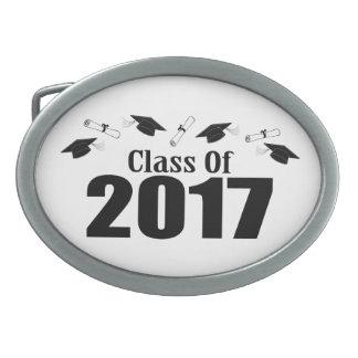 Clase de los casquillos y de los diplomas de 2017 hebilla cinturón oval