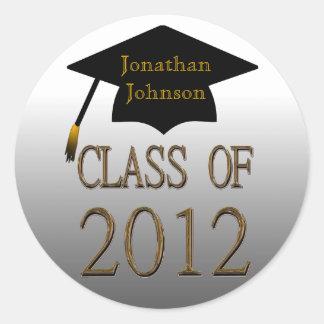 Clase de los pegatinas 2012 de la graduación