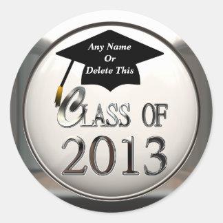 Clase de los pegatinas 2013 de la graduación etiquetas redondas