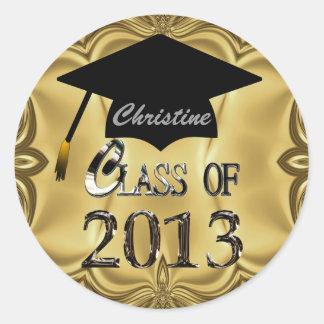Clase de los pegatinas 2013 de la graduación del pegatina redonda