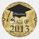 Clase de los pegatinas 2013 de la graduación del o pegatina redonda