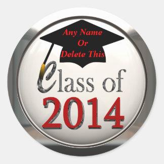 Clase de los pegatinas 2014 de la graduación etiqueta redonda