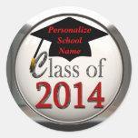 Clase de los pegatinas 2014 de la graduación pegatina redonda