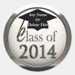 Clase de los pegatinas 2014 de la graduación etiquetas redondas