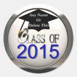 Clase de los pegatinas 2015 de la graduación etiqueta redonda