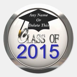 Clase de los pegatinas 2015 de la graduación pegatina redonda
