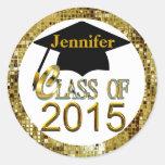 Clase de los sellos 2015 de la graduación del oro
