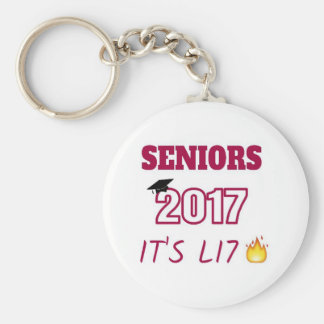 Clase de mayores de 2017 - tiene Lit Llavero Redondo Tipo Pin