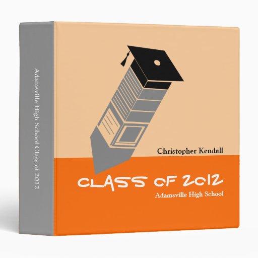 Clase de naranja de la carpeta de la graduación de