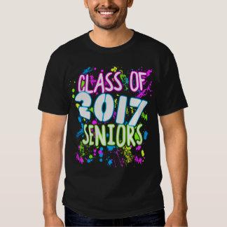 Clase de neón de la pintada de graduación de 2017 playeras