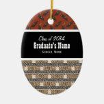 Clase de ornamento de la graduación 20xx ornamento para arbol de navidad