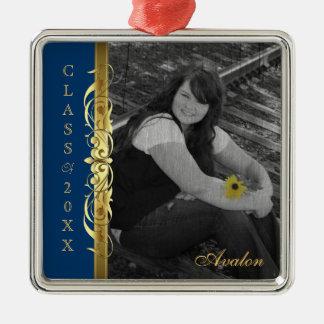 Clase de ornamento del azul de la foto de la volut ornamento para arbol de navidad