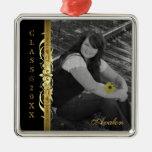 Clase de ornamento del negro de la foto de la volu ornamento para arbol de navidad