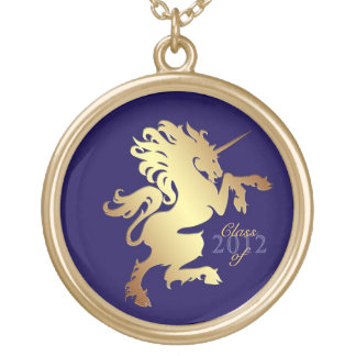 Clase de oro del unicornio de collar de la graduac
