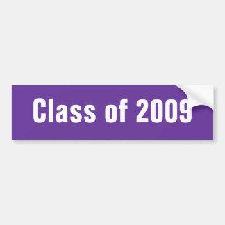 Clase de pegatina para el parachoques de 2009 púrp pegatina para auto