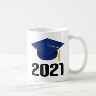 Clase de regalo graduado del gorra 2021 taza de café