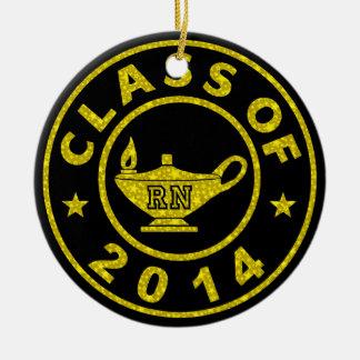 Clase de RN 2014 Adorno Navideño Redondo De Cerámica