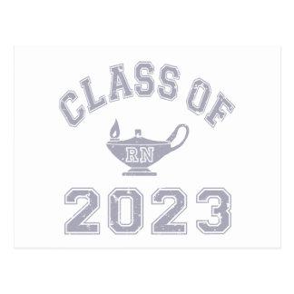 Clase de RN 2023 (enfermera registradoa) - gris 2 Tarjeta Postal