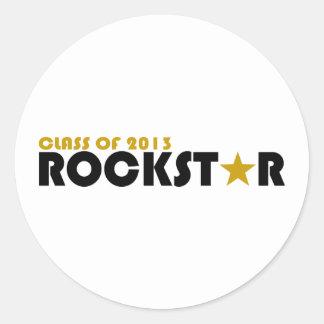 Clase de Rockstar 2013 Pegatina Redonda