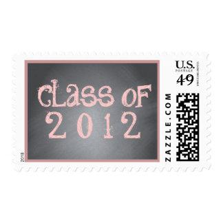 Clase de rosa en sello negro de la graduación de l