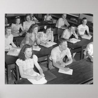 Clase de secundaria, 1943 póster
