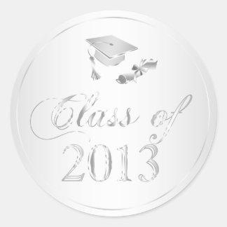 Clase de sellos del casquillo 2013 y del diploma pegatina redonda