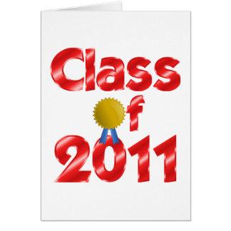 Clase de tarjeta de felicitación de 2011 rojos