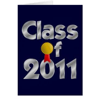 Clase de tarjeta de felicitación de plata 2011
