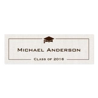 Clase de tarjeta de presentación de la graduación tarjetas de visita mini