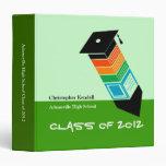 Clase de verde de la carpeta de la graduación de 2