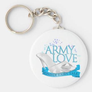 Clase del amor del ejército de cuento de hadas llavero redondo tipo pin
