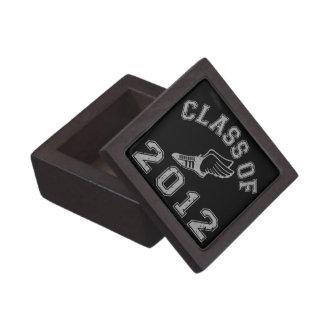 Clase del atletismo 2012 - gris 2 caja de joyas de calidad