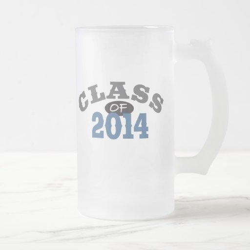 Clase del azul 2014 taza de cristal