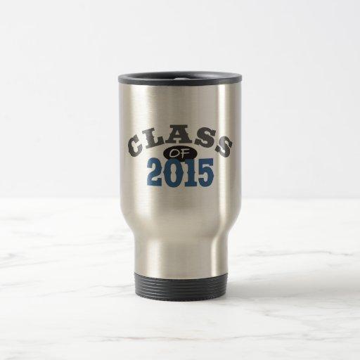 Clase del azul 2015 taza de viaje de acero inoxidable