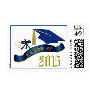 Clase del azul y del oro de sello de la graduación