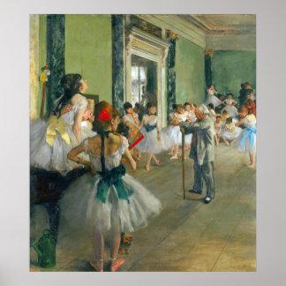 Clase del ballet de Edgar Degas Poster