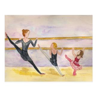 Clase del ballet tarjetas postales