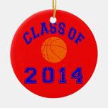 Clase del baloncesto 2014 - naranja/marina de guer adornos de navidad