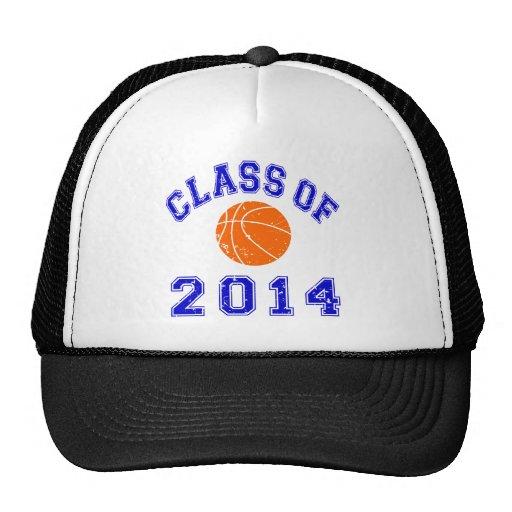 Clase del baloncesto 2014 - naranja/marina de guer gorros bordados