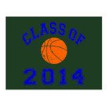 Clase del baloncesto 2014 - naranja/marina de guer postal