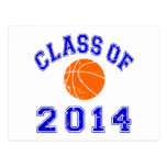 Clase del baloncesto 2014 - naranja/marina de postal