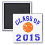 Clase del baloncesto 2015 imán de frigorifico
