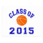Clase del baloncesto 2015 tarjetas postales