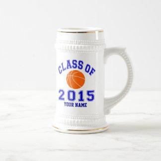 Clase del baloncesto 2015 tazas de café