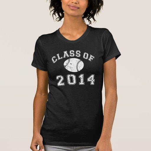 Clase del béisbol 2014 camisetas