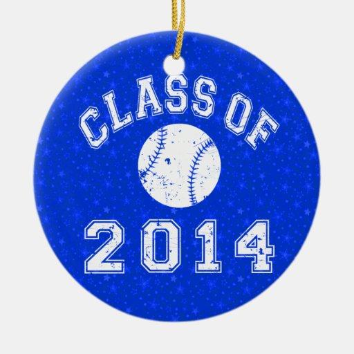 Clase del béisbol 2014 ornamentos de navidad