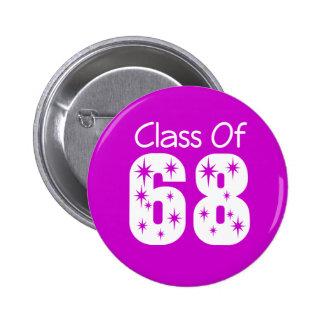 Clase del botón 1968 pin redondo de 2 pulgadas